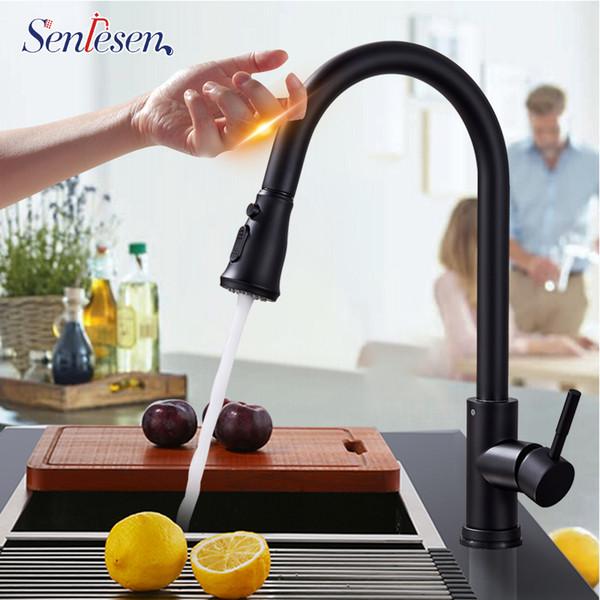 Senlesen Lead-free Stainless Steel Pull Out Sensor Kitchen Faucet Sensitive Touch Control Faucet Mixer Touch Sensor Kitchen Tap