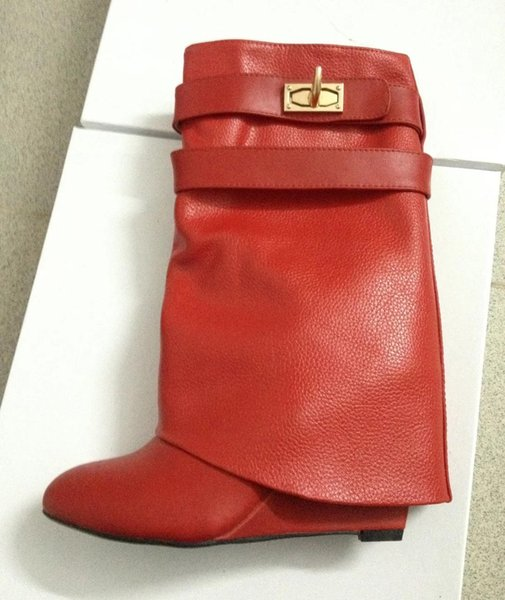 red Litchi leather
