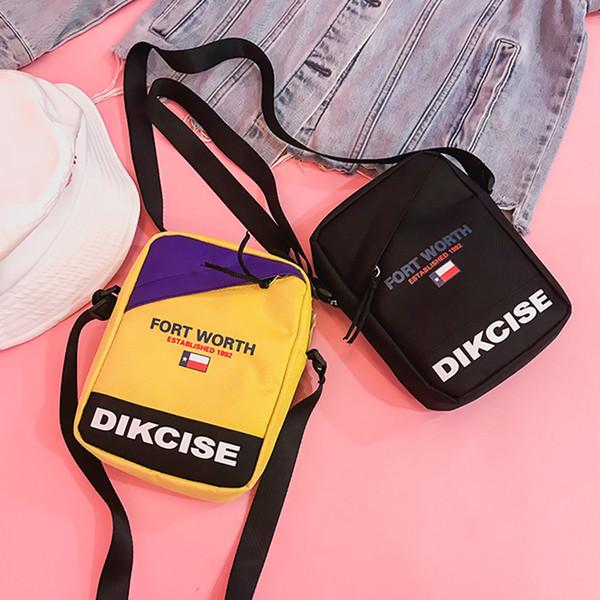 Moda Mektup Flap Kadınlar Tuval Hip-Hop Tarzı Omuz Çantaları Bayanlar Panelli Crossbody Çanta Markalar Tasarımcı Messenger Çanta Rahat