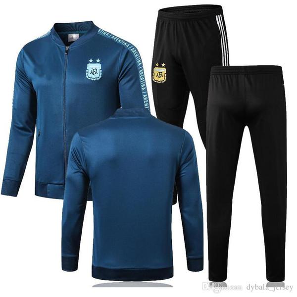19 20 Argentina tracksuit soccer jacket copa america 2019 2020 season MESSI DYBALA ICARDI Camisetas de futbol football jacket training suit