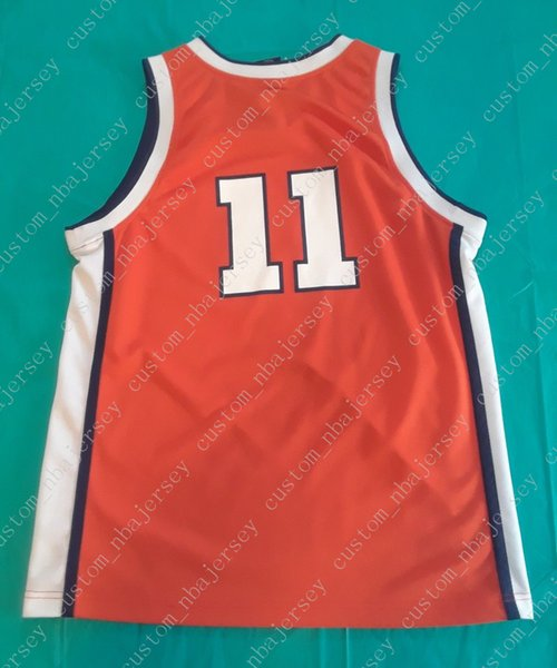 c6e616e98 Cheap custom Illinois Fighting Illini Elite Basketball Jersey orange  11 Stitched  Customize any number name MEN WOMEN YOUTH XS-5XL