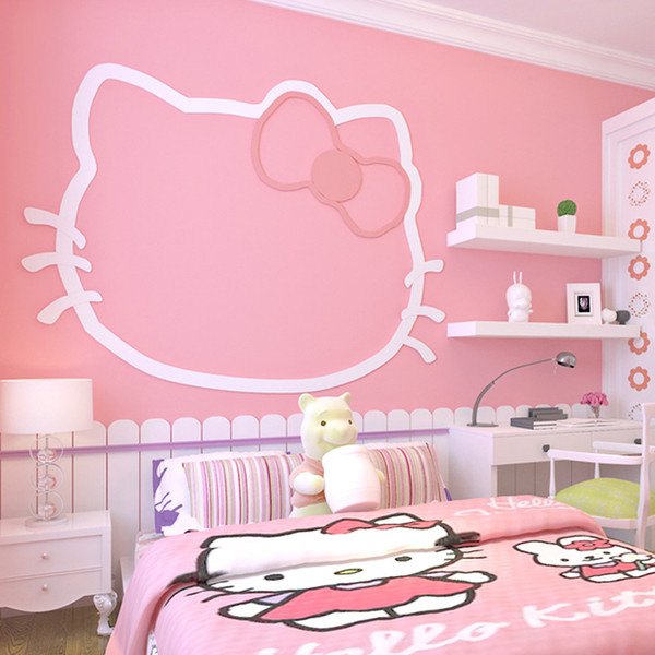 Girl Pink Non Woven Wallpaper Solid Color Warm Princess Children\'S Room  Beauty Salon Wallpaper Girls Bedroom Dormitory Baby Room Wall Decor Pc ...
