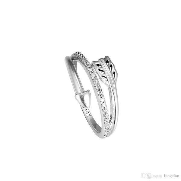SILVER RING Deux Tons or Massif Papillon Diamant Bijoux Bague de Mariage Bande 6 L