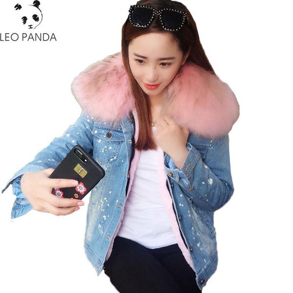 New Fashion Spring Autumn Warmth Thicken Loose Coat Women Zipper Rex Rabbit Fur Loose High-quality Female Fanx fur Coat CY378