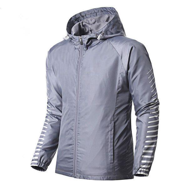 Designer Marca Jackets Hoodie das mulheres dos homens Windbreaker Zipper Correndo Jacket Grey Black Braços Stripe Imprimir Windbreakers Top Quality B100297V