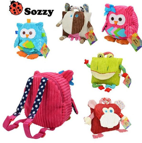 25cm SOZZY School Bags Kindergarten Plush Backpacks Baby Lovely Cartoon Animals Backpacks Kids Plush Shoulder Bags Kids Schoolbag 20