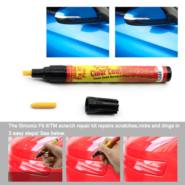 best selling Car Fix It PRO Car Scratch Repair Remover Filler Sealer Pen Clear Coat Applicator Tool Clear Pens Packing car styling care Free shipping