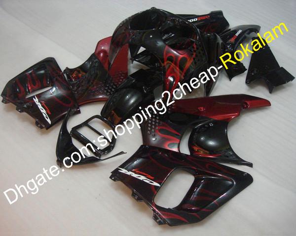 ABS Plastic Cowling CBR900RR 893 1992 1993 For Honda CBR893 CBR900 CBR 900RR 92 93 CBR 893RR Red Flame Black Motorcycle Bodywork Fairing