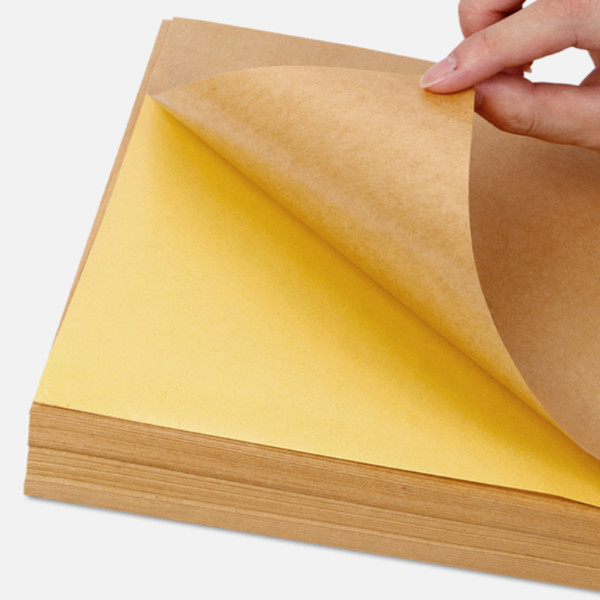 50sheets New A4 Size 210mmx290mm Light Kraft Paper Sticker Label Printing A4 Adhesive Sticker for Inkjet Printer