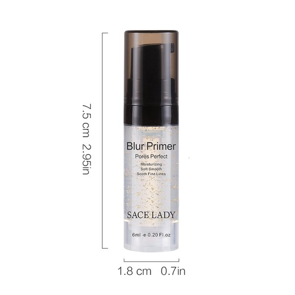 DHL Free Private Label 6ML Primer Makeup Foundation Professional Oil Control Face Care Moisturizer Eyes Long Lasting Makeup Base Gel No Pore