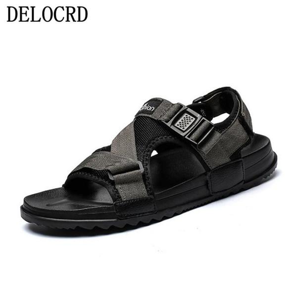 Acheter Sandales Pour Hommes Chaussures Été 2019 Beach Gladiator Mode Pour Hommes Extérieur Sandales Homme Chaussures Tongs Pantoufles Plat Grand