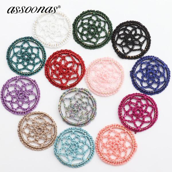 Assoonas M371, accesorios de joyería, fabricación de joyas, bricolaje ropa decorativa para el hogar, parche de forma redonda, hecho a mano, pendientes de bricolaje colgante