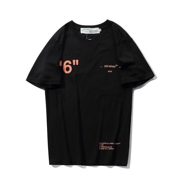 Men's Round Short Sleeve Back Vision Stereo Cross Arrow Orange Personality Summer Men's T-shirt Cotton Fabric Comfortable Sweats