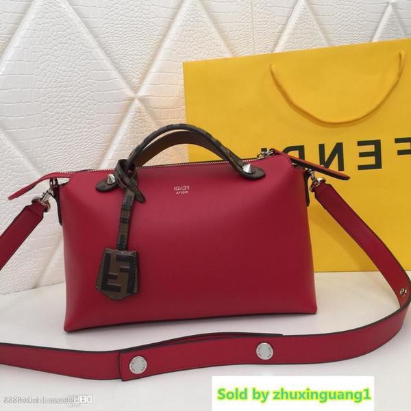 Mode High-End Damen Umhängetasche Kissen Boston Tasche Leder Designer Tasche Rot Weiß Blau Schwarz Braun Nummer: 8816.