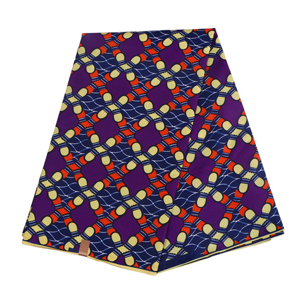 best selling Polyester Wax Prints Fabric 2021 Ankara Binta Real Wax High Quality 6 yards African Fabric for Party Dress FP6022
