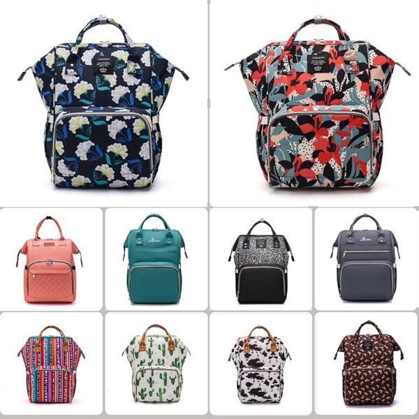 top popular 101 styles Mummy Maternity Nappy Bag Large Capacity Baby Bag Travel Backpack Desiger Nursing Bag for Baby Care Diaper Bags mini order 12 pcs 2021