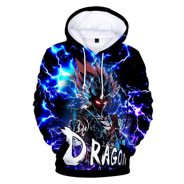 Dragon Ball Jacket 2019 Wish anime burst seven Dragon Ball Chaqueta Dragon ball 3D Impreso suéter Wukong sudadera de manga larga