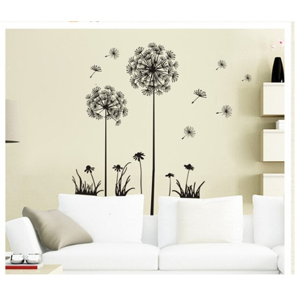 1PCS 70x50cm Removable Art PVC Dandelion Wall Sticker Quote Decal Mural Room Home Decor