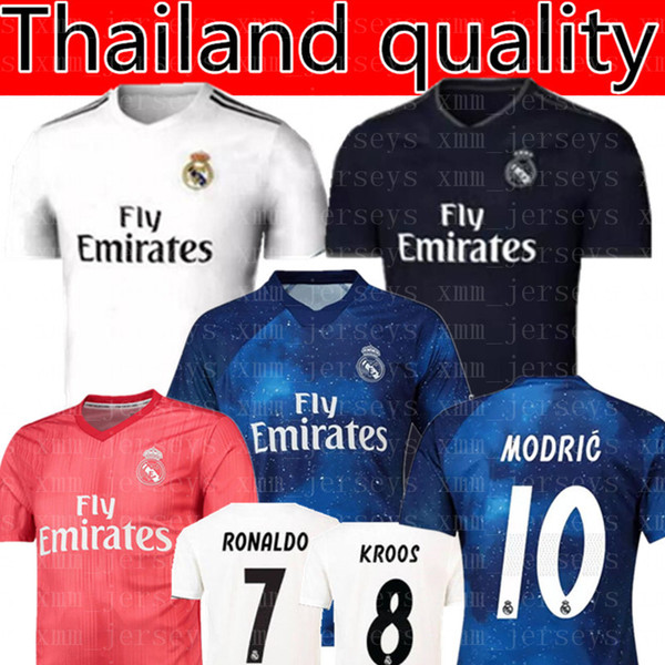 Real Madrid RONALDO  7 MBAPPE  10 soccer jerseys 2019 Real Madrid ISCO  22  RAMOS RONALDO BENZEMA MODRIC football shirt WOMEN man Kids Kits bbd21ea63