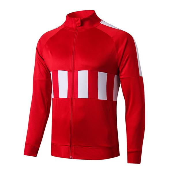 # A204 1920turtleneckredwhite la parte superior de la chaqueta