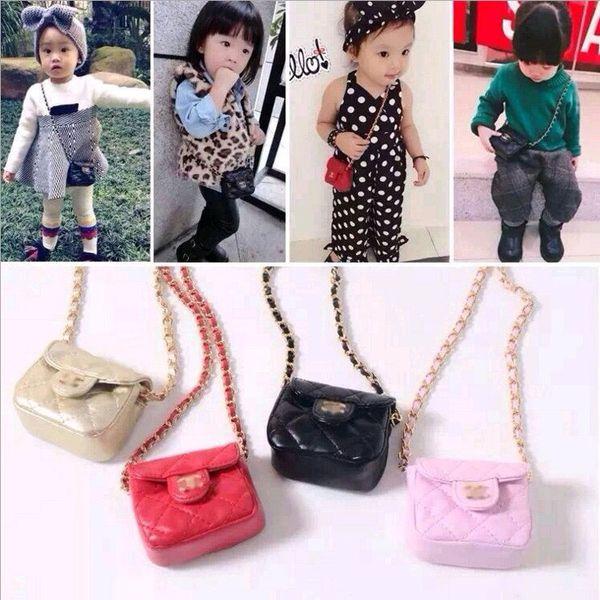 Meninas MINI Bolsas Crianças Bolsa Cross-body Bags 2019 Moda 5 Cores Crianças Meninas Bolsa de Ombro Crianças Doces Sacos de Presentes de Natal Carteiras