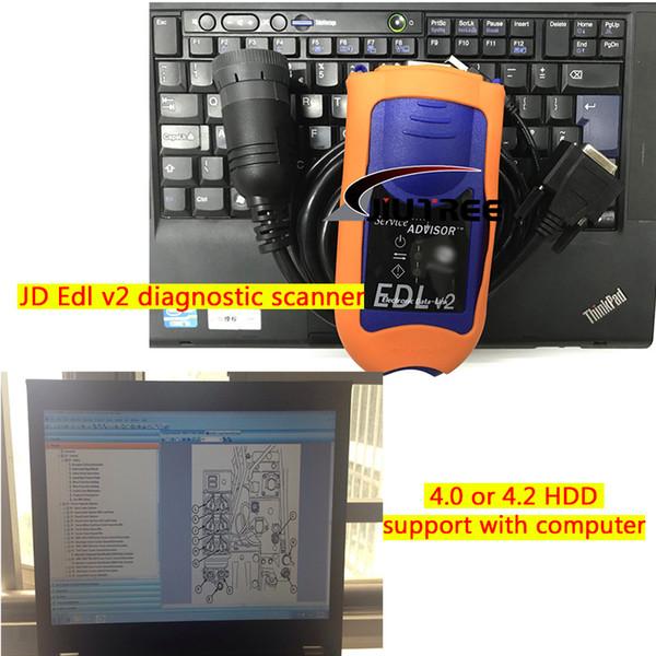 Servicio Asesor JD 4.2 V2 Agricultura Construcción y Asesor de Servicio Forestal John Deer Edl v2 escáner de diagnóstico