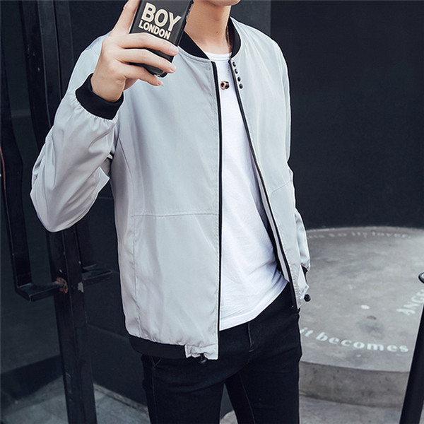 New Fashion Men Trench Coat Brand Clothing Spring Autumn Windbreaker Man Jacket Stand Collar Solid Zipper Outwear Plus Size 3XL
