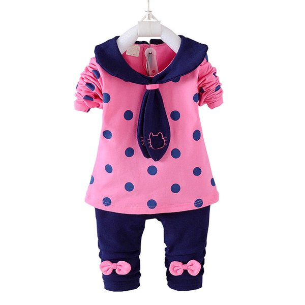 good quality baby girls spring autumn clothing sets 2PCS tops+pants tracksuit outfits kids cotton tracksuit clothes for baby girls