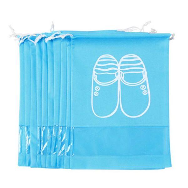 Zapatos a prueba de agua Bolsa de almacenamiento Bolsa de viaje Portátil Tote Cordón No tejido Embalaje Organizador Cubierta a prueba de polvo Armario Inicio