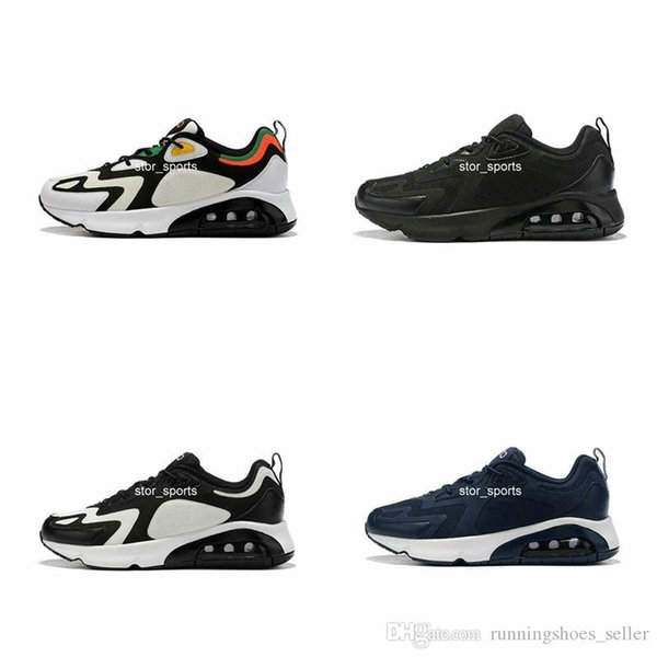 Acheter 2019 New Nike Air Max 200 Maxes 200 Hommes Chaussures De Course Royal Pulse Noir Blanc Demi Palm Air Cushion Designer Baskets Eur 40 46 De