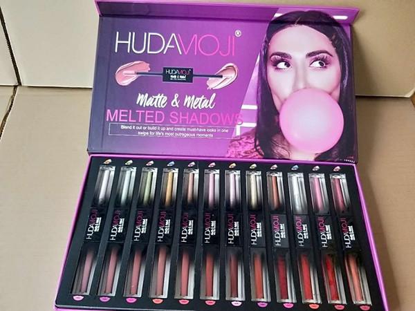 2019 новый косметический макияж глаз maquillage Марка макияж набор блеск для губ 12 шт. / компл. 24 цветов DHL бесплатная доставка