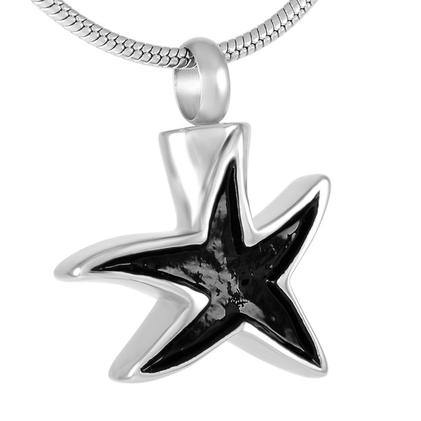IJD 9295 Stainless Steel Jewelry Sea Star for pet Ashes Souvenir Jewelry Cremation Pendant Necklace Ashes Bracket
