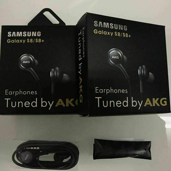 Оригинальный Samsung S8 S9 Note 8 AKG Наушники Наушники 3,5 мм Гарнитура Наушники EO-IG955 с пакетом для Huawei Xiaomi Samsung Galaxy S8 S9