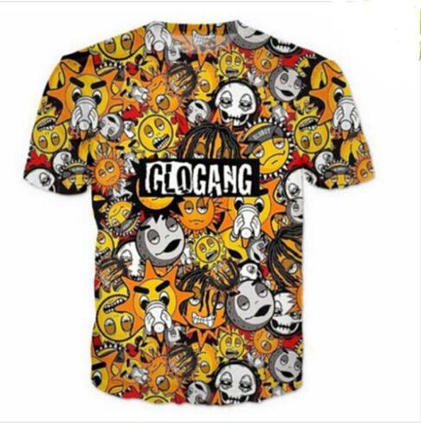 Unisex Estilo Verão Clássico Bonito Dos Desenhos Animados Glo Gang T-Shirt Das Mulheres Dos Homens de Impressão 3D Harajuku Camisa de Moda Roupas Casuais Hip Hop Tees R073