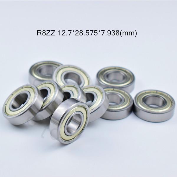 "top popular R8ZZ ABEC-5 bearings 1 2 x 1 1 8 x 5 16"" inch Metal Sealed Mini Bearing chrome steel bearing R8 R8Z R8ZZ 12.7*28.575*7.938 mm 2021"