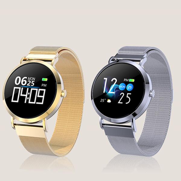 CV08C classique intelligente Montre femme sang Taux pression cardiofréquencemètre Sport Fitness Tracker Smartwatch connecter Android Phone 6 7