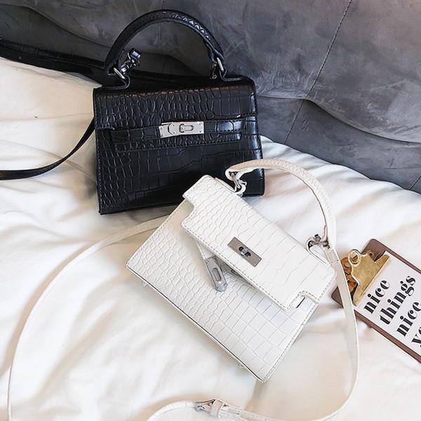 Lässige Krokoprägung Handtasche Frauen Alligator Haspe Messenger Bags Für Pu Leder Schulter Crossbody Taschen Kupplungen Geldbörse Bolsa