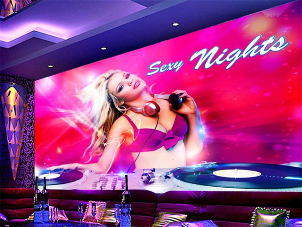 Custom Size 3D Photo Wallpaper Living Room Mural Sexy Beauty Hotel Night Club 3D Picture Mural Home Decor Creative Hotel Study Wallpaper 3D