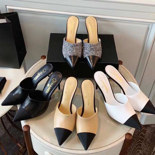2019 Fashion luxury designer women shoes bottom high heels Nude black r Pointed Toes Pumps Dress shoe