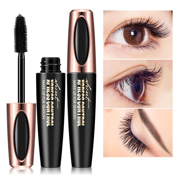 Waterproof 4D Silk Fiber Mascara Extension Long Curling Makeup Eye Lashes Sex Long-lasting Eyelash Brush LLA322