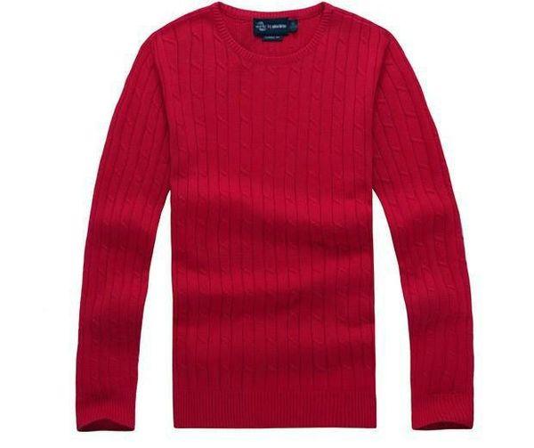 Бесплатная доставка 2018 нового высокого качества люди поло витой игла свитер трикотажного хлопок шея свитер пуловер свитер Мужского размер S-XX
