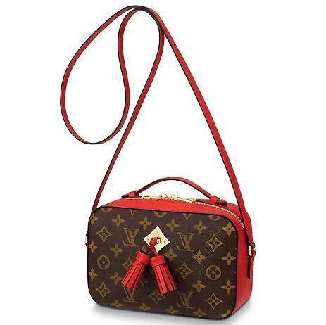 2019 M43556 SAINTONGE red Real Caviar Lambskin Le Boy Chain Flap Bag HANDBAGS SHOULDER MESSENGER BAGS TOTES