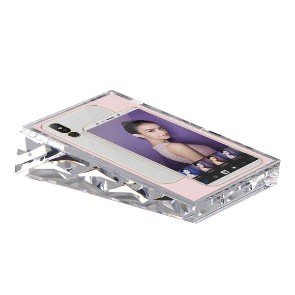 5 inches 13x9cm Acrylic Block Frame Vertical Name Card Cover Price Tag Display Stand Desk Sign Holder Phone Poster Photo Frame