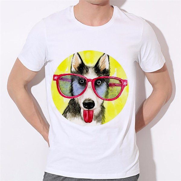Yaz husky tarzı t gömlek gündelik giyim köpek kısa kollu 3d t gömlek hayvan husky Akita köpek baskılı tişörtler yağma 21-2 # giydirin