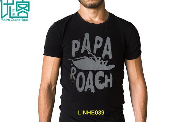 Papa Roach Bug Logo Camiseta Camiseta de manga corta Camiseta de moda Nuevo diseño Algodón Hombre Camiseta Diseño