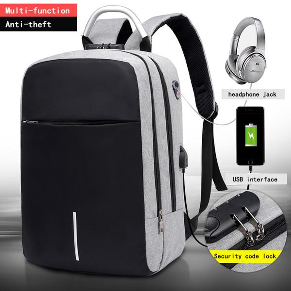 "OUBDAR Men Multifunction Anti Theft Backpack 15.6"" Inch Laptop Usb Charging Backpacks Waterproof Schoolbag Business Travel BagsMX190905"
