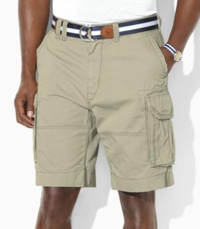 Sınırlı Moda Erkekler Rahat Polo Şort Cebi Ile Pamuk Yaz Erkek Plaj Kısa Pantolon Golf Mayolar Lacivert Haki Beyaz turuncu