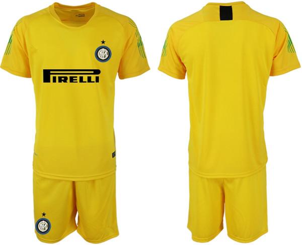 19 20 ter Futbol formaları kaleci seti GK Shirt # 1 HANDANOVIC Kaleci formaları CANDREVA PERISIC football kit