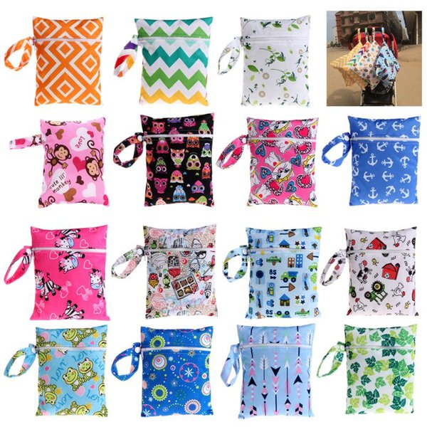 Мультфильм детские пеленки мешок мама рюкзак организатор мокрые сумки водонепроницаемый для коляски Мумия материнства изменение подгузник сумки-15
