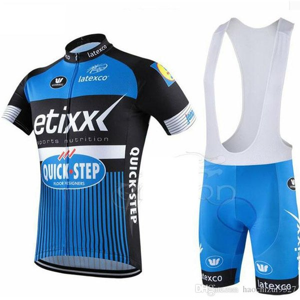 UCI Tour de France ETIXX Quick Step Shorts Cycling Jerseys Sets Bike Jersey Breathable Cycling Short Sleeves Mens Cycling Clothing